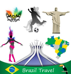 brazil travel vector image