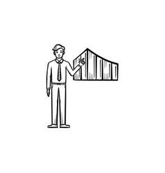 business presentation hand drawn sketch icon vector image