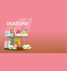 businessman has a problem with a deadline vector image
