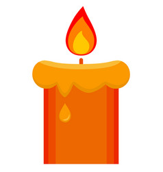 cartoon lighted candle icon poster vector image