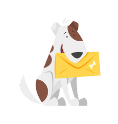 Cartoon style of postal dog vector