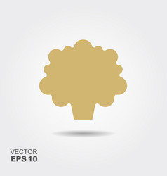 cauliflower flat icon colorful logo vector image