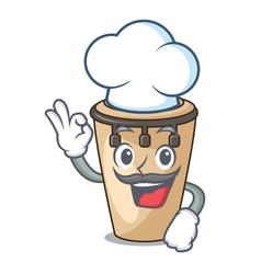 Chef conga character cartoon style vector