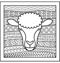 Chinese zodiac sign Sheep vector image