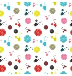 Citrus Cocktail seamless pattern background vector