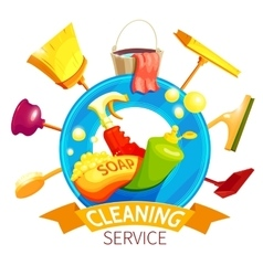 Cleaning Logo Business Composition vector