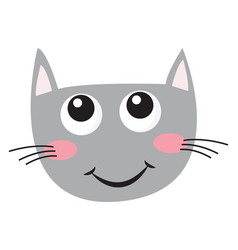 clipart face a smiling cat or color vector image