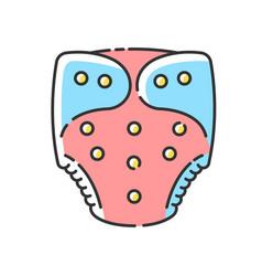 Cloth diaper rgb color icon vector