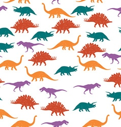 colorful dinosaurus seamless pattern background vector image
