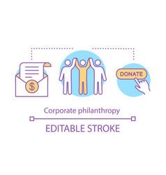 Corporate philanthropy concept icon vector
