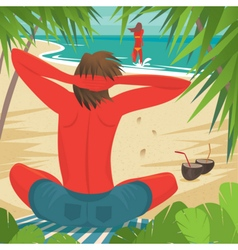 Couple on vacation vector image