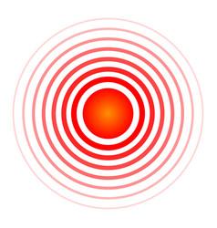 Creative of pill target spot vector