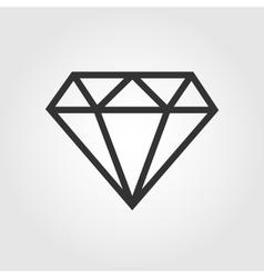 Diamond icon flat design vector image