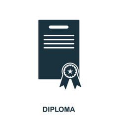 diploma icon line style icon design ui vector image