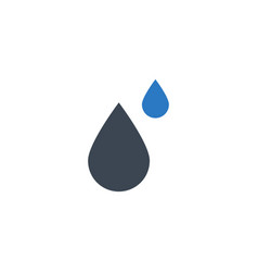 Drop related glyph icon vector