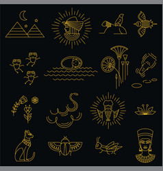 egyptian repeatable pattern with passover holiday vector image