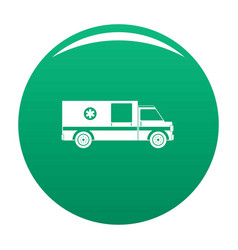 first aid icon green vector image