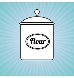 Flour pot design vector
