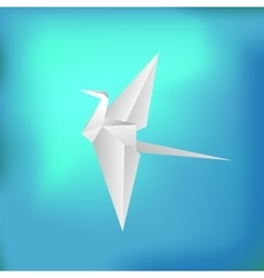 Flying Paper Bird vector image