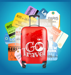 Go travel concept different boarding pass vector