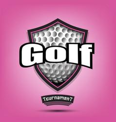 Golf logo design template vector