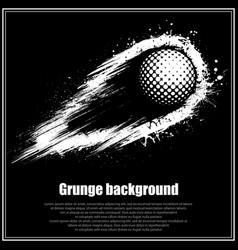 grunge black golf background vector image