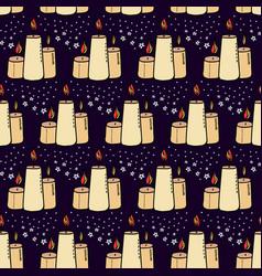 Halloween wax candle pattern-02 vector
