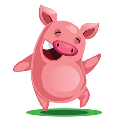 Happy pig chinese new year on white background vector