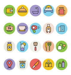 Hotel and Restaurant Icons 4 vector image