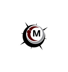 insights guide initial m logo design template vector image