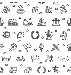 italy signs seamless pattern background on a white vector image