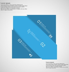 Light infographic with rectangle askew divided to vector