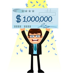 man with a big check vector image