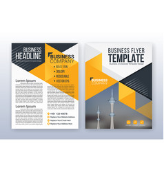 modern business flyer template annual report vector image