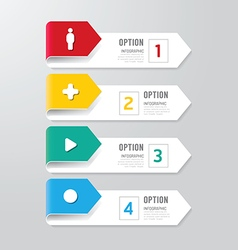 Modern infographics design options banner vector image