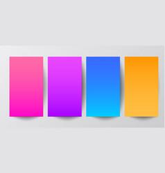 Modern screen color gradients vector