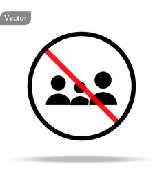 No people allowed sign eps10 vector