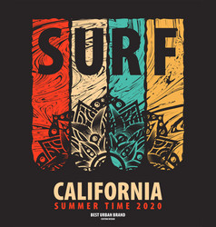 on the theme of surf rider and vector image