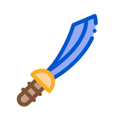pirate saber icon outline vector image