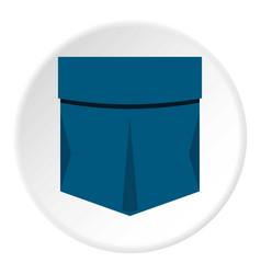 Pocket symbol icon circle vector