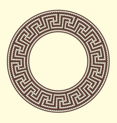 Round ornamental brown colored frame isolated on vector