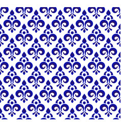 royal blue pattern vector image