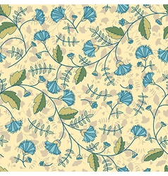 Seamless pattern with cornflowers flowers vector