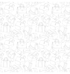Seamless womans stylish bags sketch vector