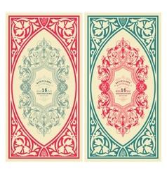 set retro wedding cards vector image
