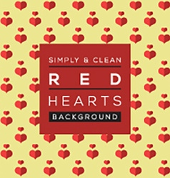 Simple and clean red hearts background vector