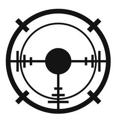sniper elite aim icon simple style vector image