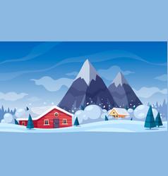 Snow avalanche cartoon composition vector