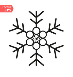 snowflake icon simple flat single color isolated vector image
