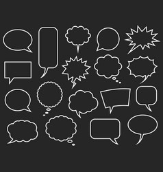 speech bubbles set comics bubble vector image
